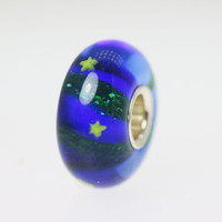 Translucent Cobalt Blue Unique Bead