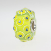 Yellow Lime Dottie Bead