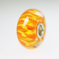 Orange Unique Petals Bead