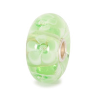 Light Green Flower Glass Bead Trollbeads