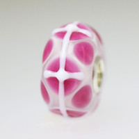 Pink & White Unique Bead