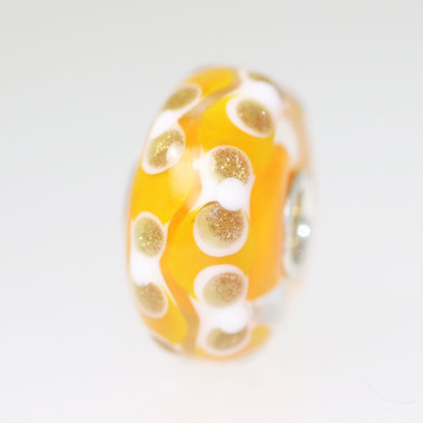 Orange Bead With Glitter Designs