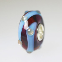 Dark Red & Blue Unique Bead