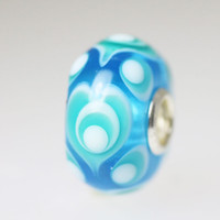 Translucent Aqua Heart Bead