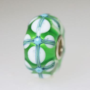 Green Unique Glass Bead