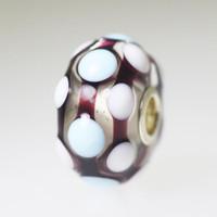 Mint & White Polka Dot Bead