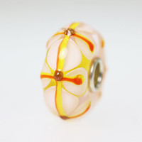 Stained Glass Yellow Unique Bead