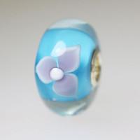 Aqua Unique Flower Bead