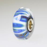 Blue & White Shadow Unique Bead