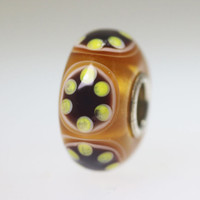 Amber & Brown Unique Bead