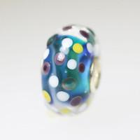 Aqua Polka Dot Unique Bead