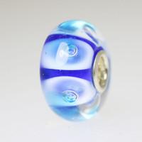 Blue Bubble Unique Bead