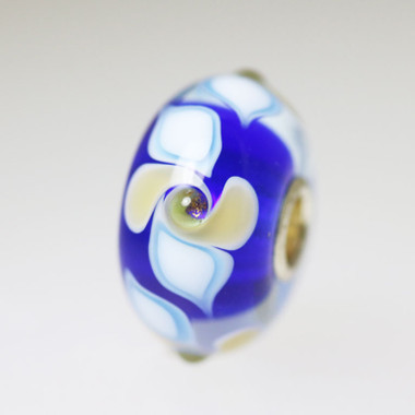 Blue Swirl Unique Bead