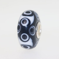 Opaque Black & White Unique Bead
