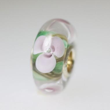 Light Green Based Flower Bead