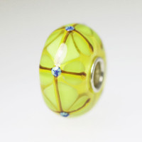 Yellow Green Stained Glass Bead