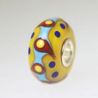 Dark Yellow Opaque Unique Bead