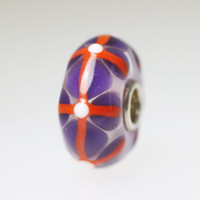 Purple Stained Glass Bead
