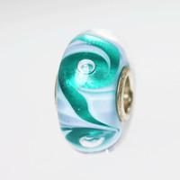 Aqua Swirl Bubble Bead