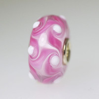 Pink and White Unique Bead