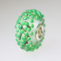 Green Budded Unique Bead