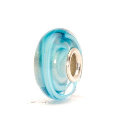 Turquoise Ribbon Glass Trollbeads