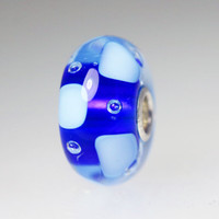 Blue Bubble Unique Bead
