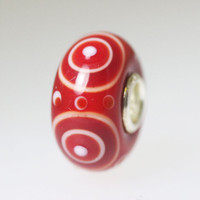 Opaque Red Unique Bead