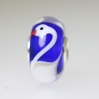 Blue Swan Unique Bead