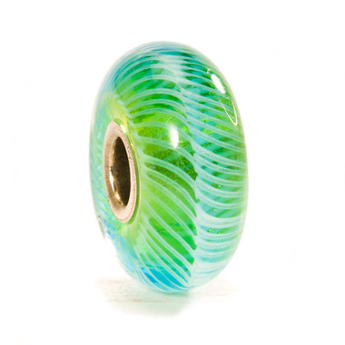 Turquoise Feather Glass Trollbeads