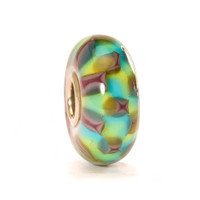 Turquoise Purple Chess Glass Trollbeads
