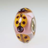 Pink Based Ladybug Bead