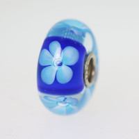 Blue Flower Bead