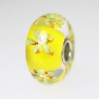 Yellow Flower Unique Bead