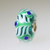 Aqua Webbed Unique Bead