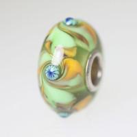 Green Unique Swirl Bead