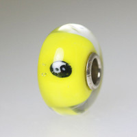 Yellow Unique Ying Yang Bead