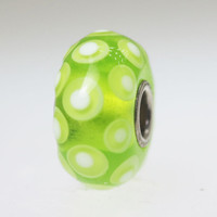 Lime Green Polka Dot Bead