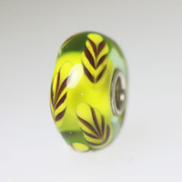 Lime Green Feather Bead