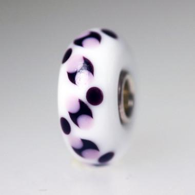 white opaque unique bead