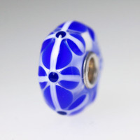 Blue Stained Glass Unique Bead