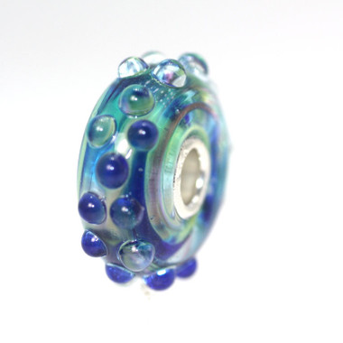 White Cap Glass Trollbeads