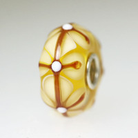 Light Yellow Stained Glass Bead