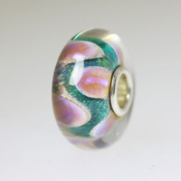 Aqua and Pink Unique Bead