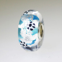 Aqua Silver Unique Bead