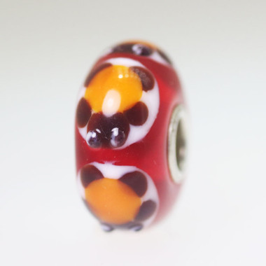Red Based Turtle Bead