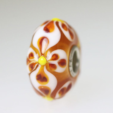 Warm Brown Unique  Bead