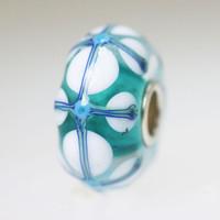 Aqua Stained Glass Bead