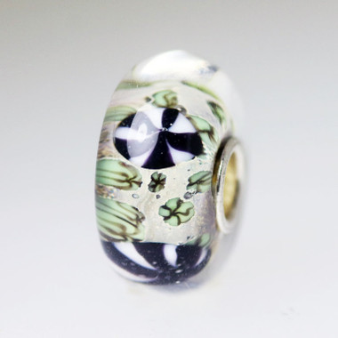 Grey and Black Unique Bead