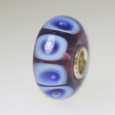 Purple Bead With Blue Bubbles